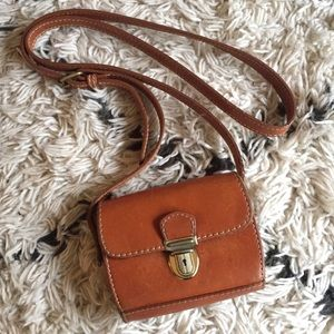 VINTAGE DKNY small crossbody leather bag